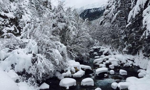 Parc Nacional Aigüestortes nevat